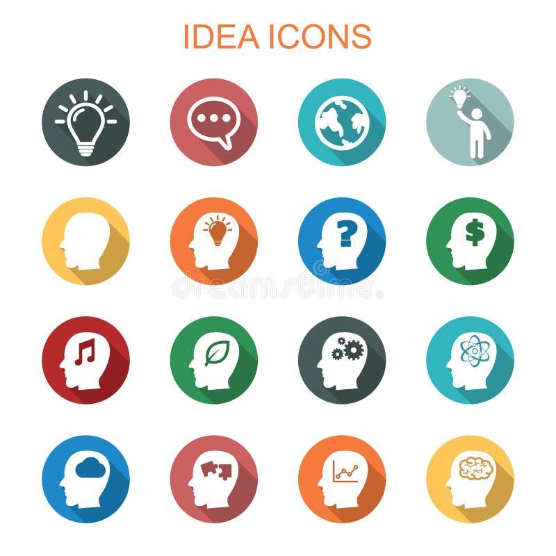 Longues icônes d'ombre d'idée illustration de vecteur