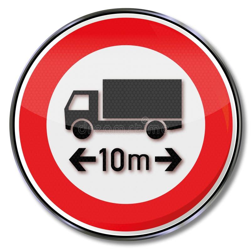 Longueur maximum de camion 10 mètres illustration libre de droits