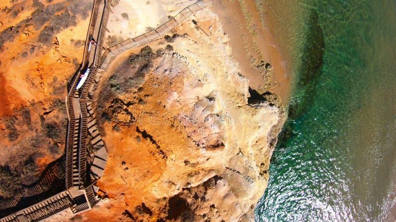 Longueur a?rienne de l'estuaire du sud de rivi?re de Southport Onkaparinga d'Australien photo libre de droits