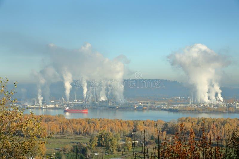 Longview, Washington, Columbia River lizenzfreies stockbild
