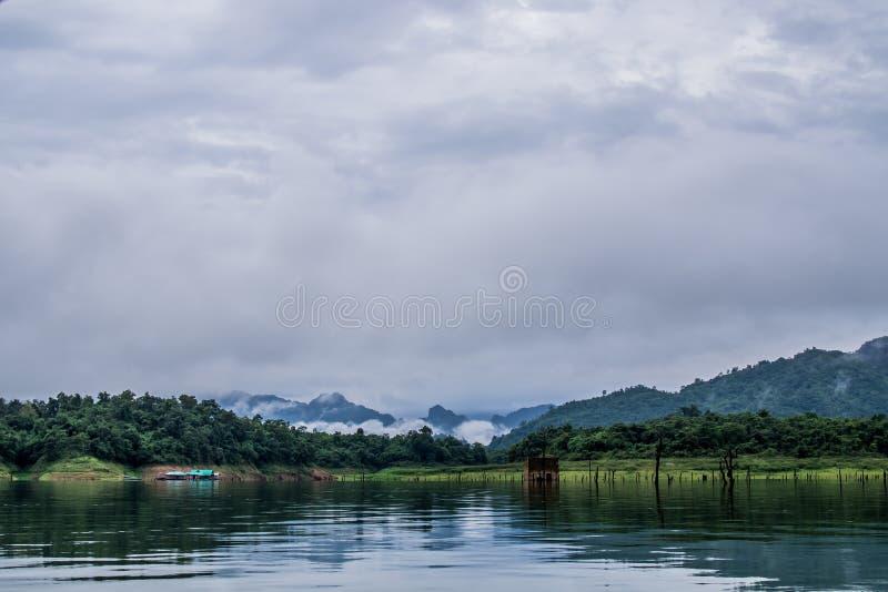 Longwood-Brücke sangklaburi nachts lizenzfreies stockfoto