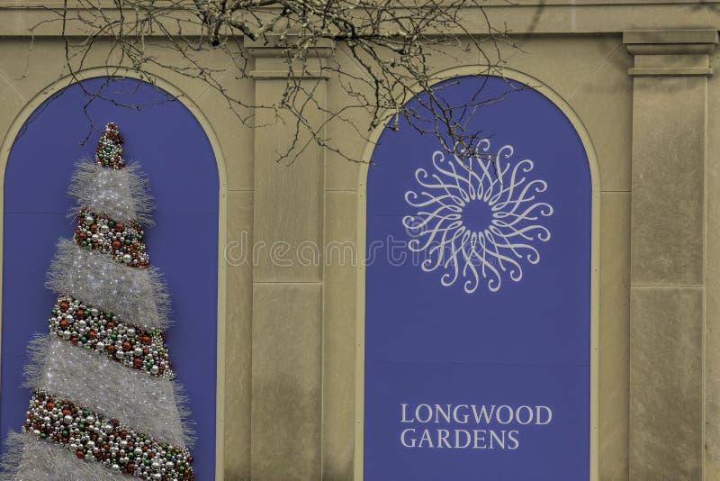 Longwood ogródy przy Christmastime zdjęcie stock
