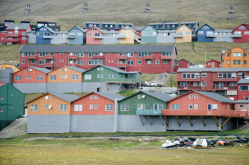 Longyearbyen Шпицберген, Свальбард, Норвегия стоковое фото