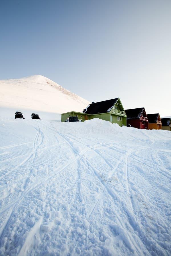 longyearbyen royaltyfri fotografi