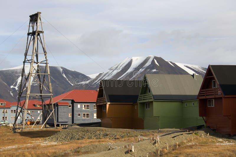 Longyearbyen - consoles de Svalbard - Noruega fotos de stock