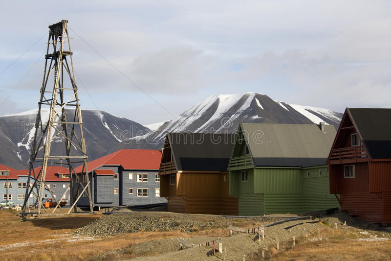 Longyearbyen - isole dello Svalbard - la Norvegia fotografie stock
