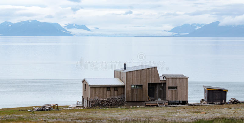 Longyearbyen Spitsbergen, Svalbard, Norway. Longyearbyen is the largest settlement and the administrative centre of Svalbard, Norway stock image