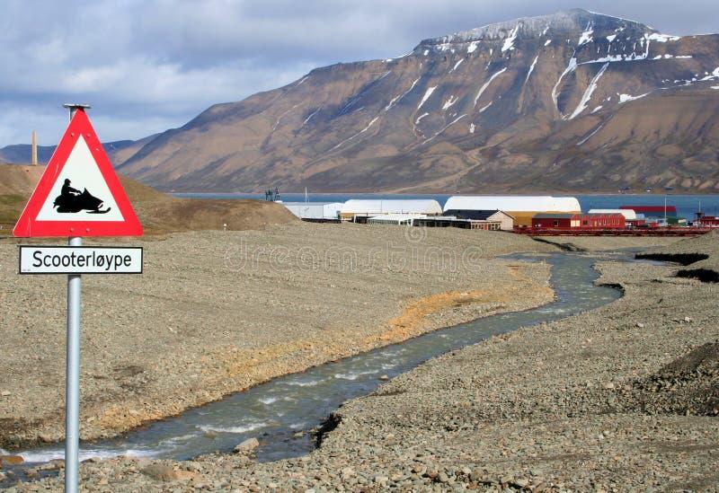 longyearbyen Norway obrazy stock