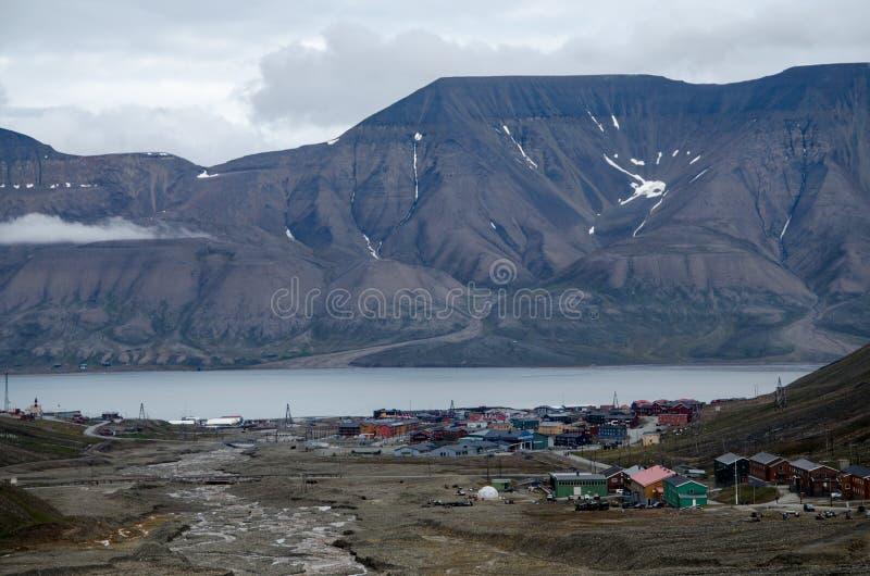 Longyearbyen Spitsbergen, le Svalbard, Norvegia immagini stock libere da diritti
