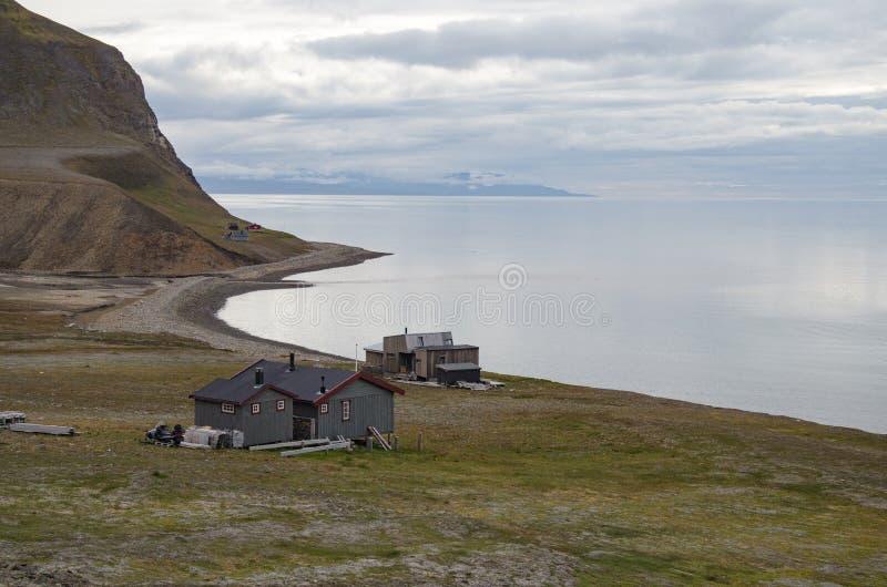 Longyearbyen Spitsbergen, le Svalbard, Norvegia fotografia stock