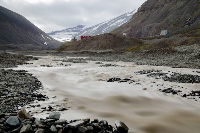 Longyearbyen Spitsbergen, Svalbard, Norge royaltyfri fotografi