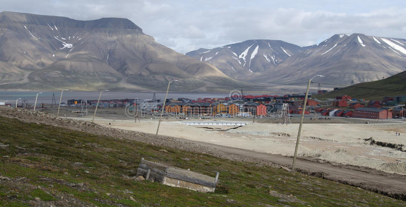 Longyearbyen Spitsbergen, Svalbard, Norge royaltyfri bild