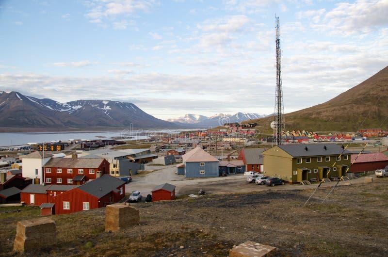 Longyearbyen Spitsbergen, Svalbard, Norge arkivfoto