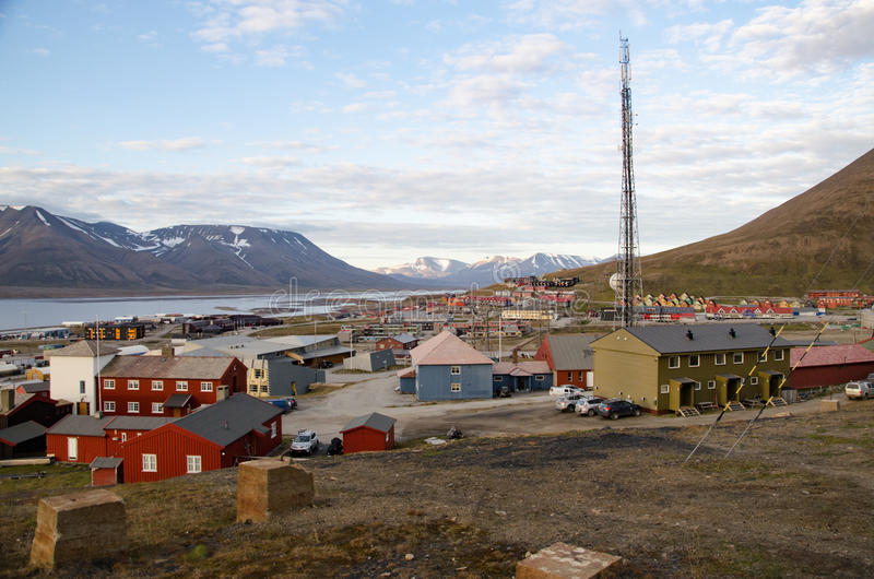 Longyearbyen Spitsbergen, Svalbard, Norway stock photo
