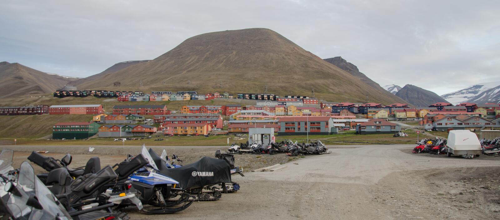 Longyearbyen Spitsbergen, Svalbard, Norway royalty free stock photos