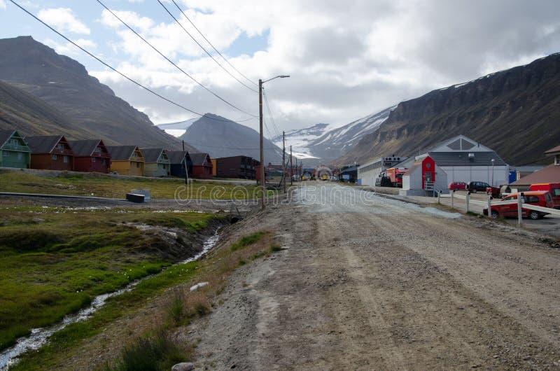 Longyearbyen Spitsbergen, Svalbard, Norwegia zdjęcie royalty free