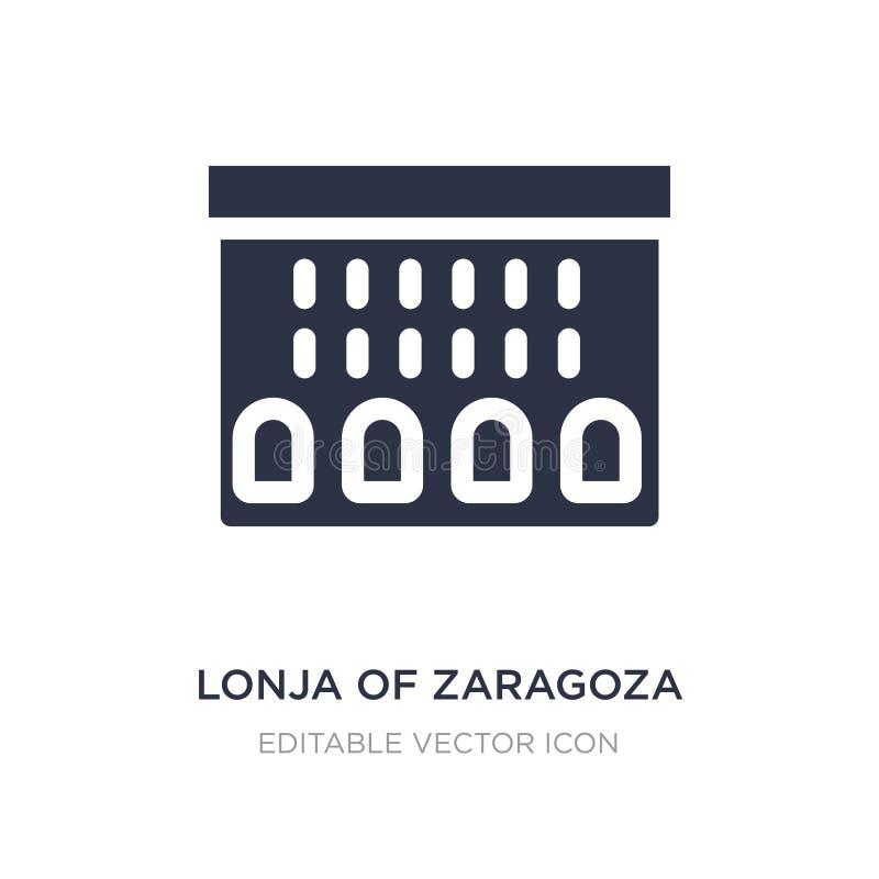 lonja von Saragossa-Ikone auf weißem Hintergrund Einfache Elementillustration vom Monumentkonzept stock abbildung