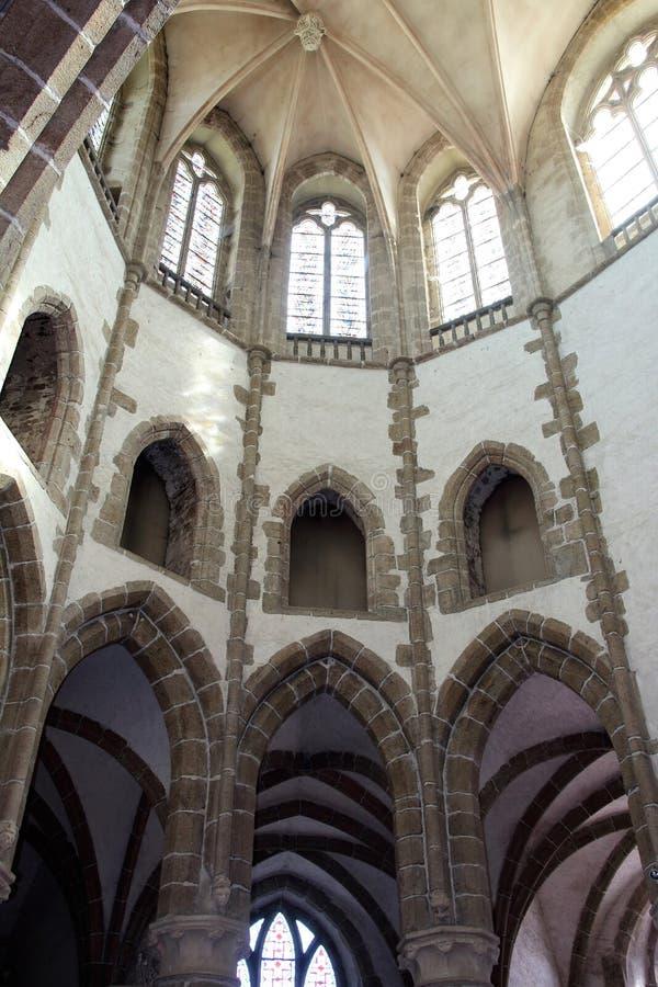 Lonlay Abbey. Normandy France. L`Abbaye Notre-Dame in Lonlay Normandy, France . Founded in c. 1020 by Guillaume de Bellême known as `Talvas`, Lonlay Abbey was stock photos