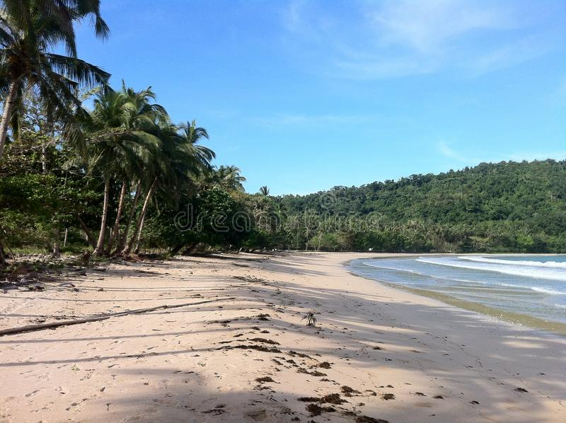 Lonley beach in Phillipines. No people on the beach in Phillipinesa stock photo
