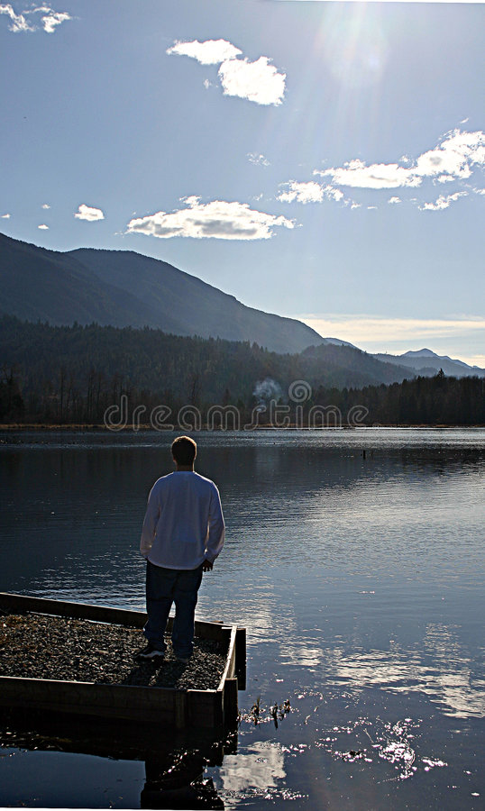 Download Lonley man stock image. Image of nature, ocean, forest, mountain - 84857