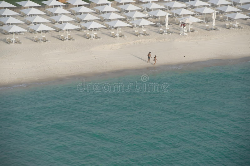 Lonly at the beach royalty free stock image