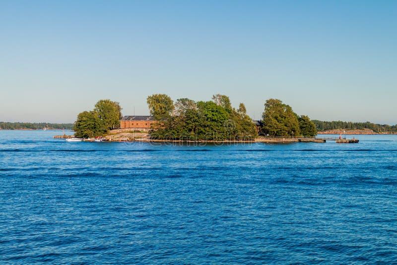 Lonna-Insel nahe Helsinki, Finla stockbild