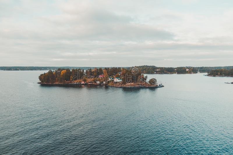 Lonna island outside Helsinki stock images