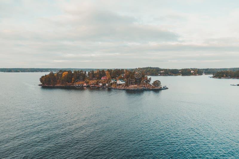 Lonnaeiland buiten Helsinki stock afbeeldingen