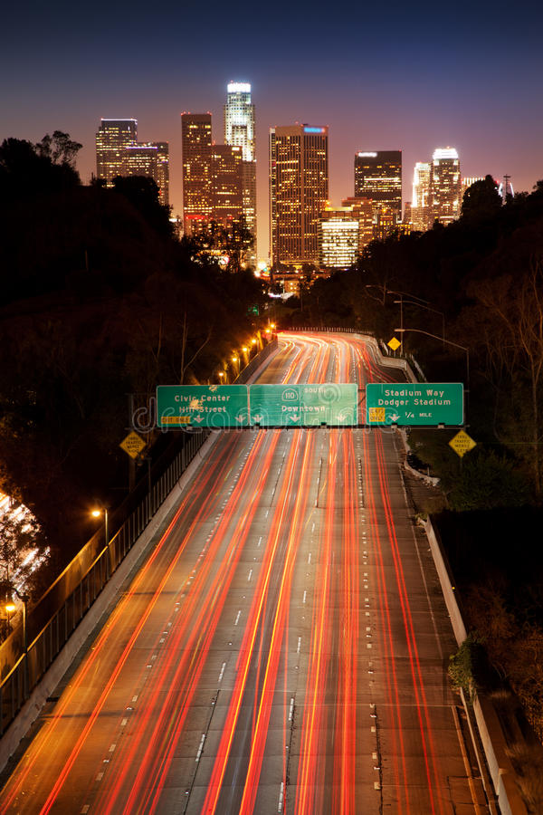 Lons Angeles Stadt lizenzfreie stockfotografie