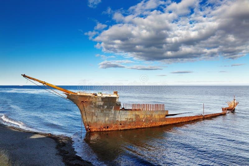 Lonsdale阁下大型驱逐舰wreckship 免版税库存图片
