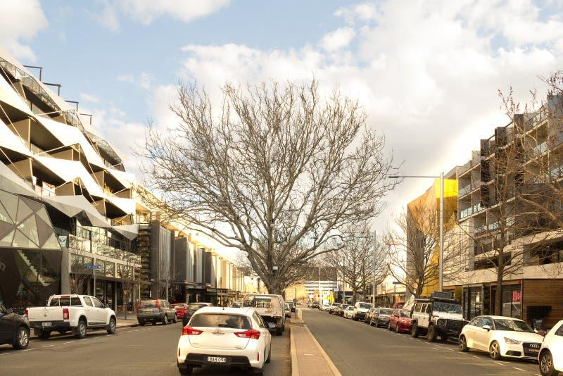 Lonsdale-Straße Canberra stockfotos