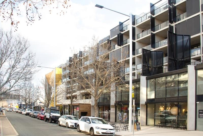 Lonsdale-Straße Canberra stockfotografie