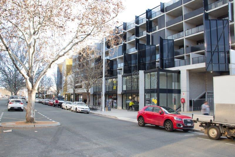 Lonsdale-Straße Canberra lizenzfreies stockbild
