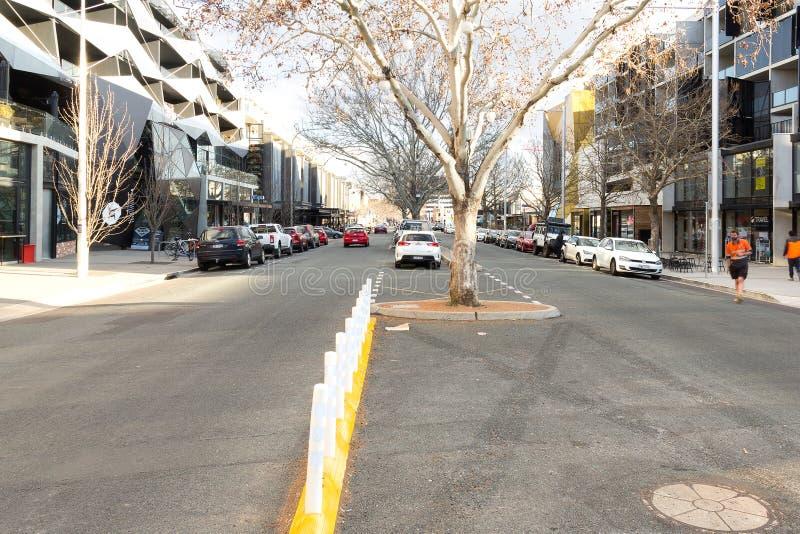 Lonsdale-Straße Canberra lizenzfreies stockfoto