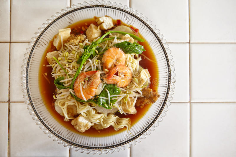 Lontong mie stock images