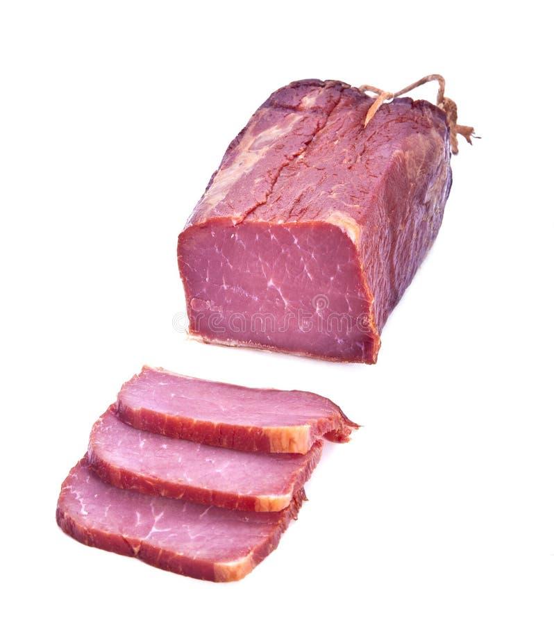 Lonza di maiale fumata fotografia stock