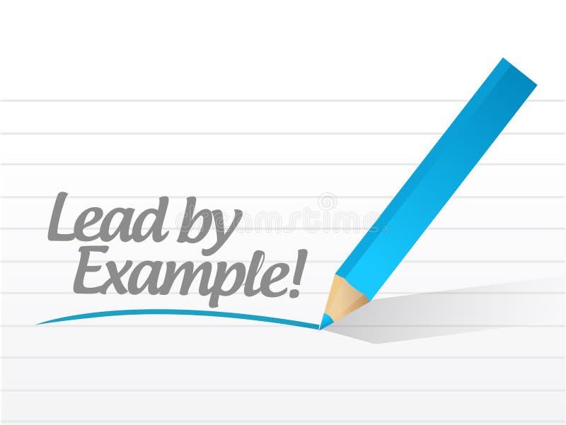 Lood door voorbeeld dat op een wit stuk van document wordt geschreven stock illustratie