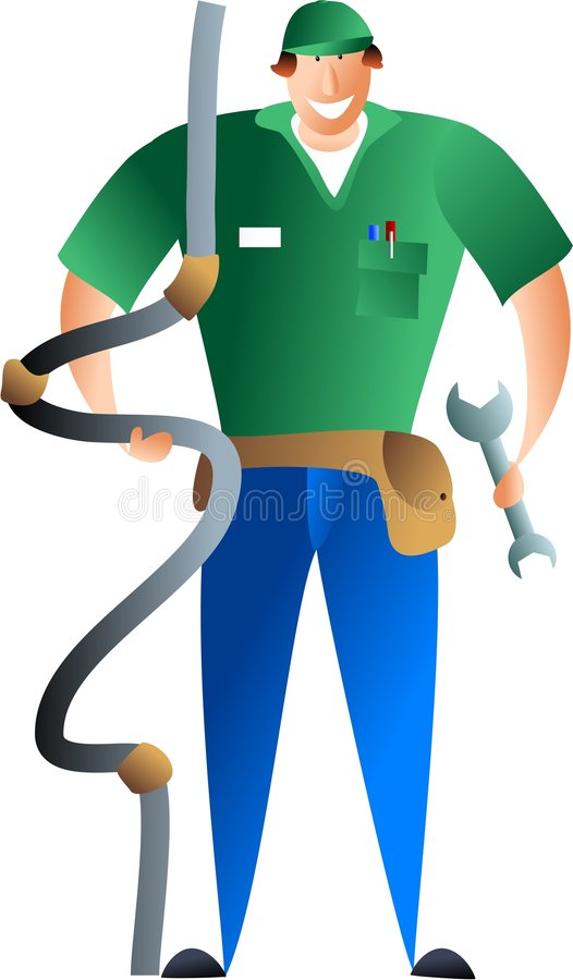 Loodgieter vector illustratie