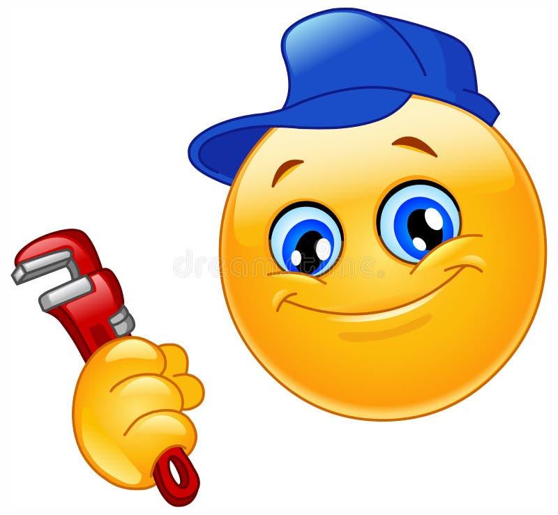 Loodgieter emoticon stock illustratie
