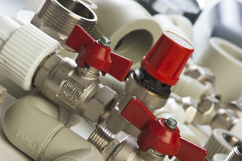 Loodgieterswerkinrichtingen stock foto