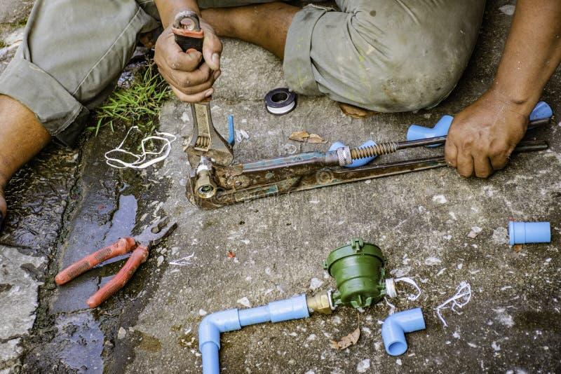 Loodgieterswerkreparatie stock fotografie