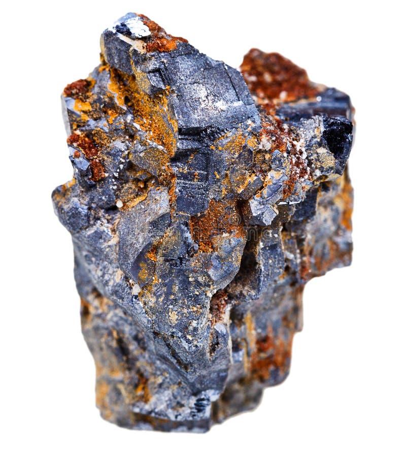 Loodglans minerale kristallen stock foto