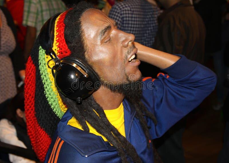 Loodje Marley bij Mevrouw Tussaud's stock foto