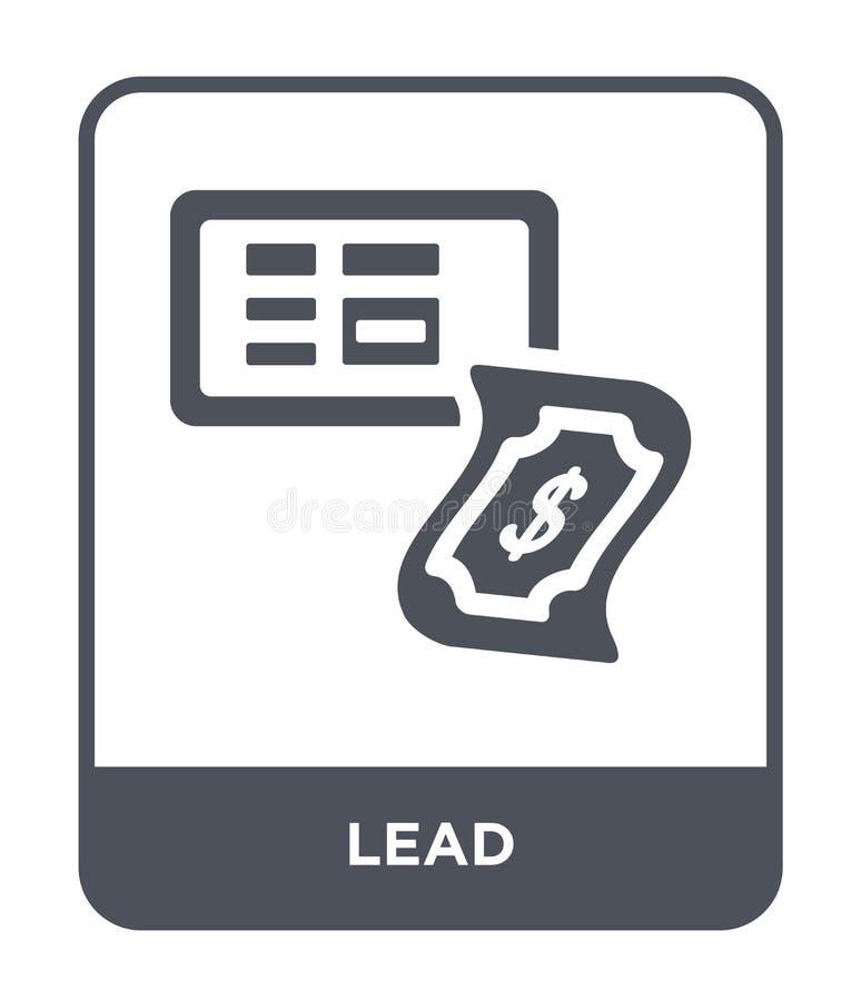 loodpictogram in in ontwerpstijl loodpictogram op witte achtergrond wordt geïsoleerd die eenvoudige en moderne vlakke symbool van vector illustratie