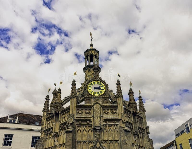 Loodrecht marktkruis in het centrum van de stad van Chichester, West-Sussex, het UK royalty-vrije stock foto