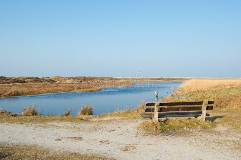 Loodsmansduin an den Holländern Texel lizenzfreie stockfotografie