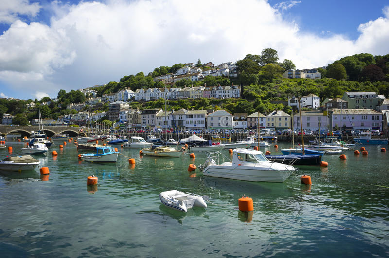 Looe Harbour, Cornwall, United Kingdom. Looe Harbour on a sunny day, Cornwall, United Kingdom stock photography