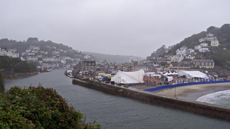Looe musikfestival, Cornwall royaltyfria foton