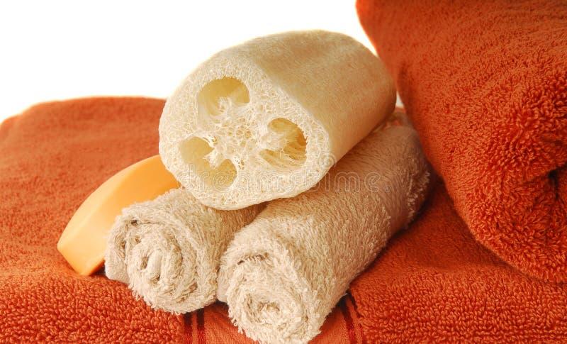 loofah πετσέτα σαπουνιών στοκ φωτογραφίες με δικαίωμα ελεύθερης χρήσης