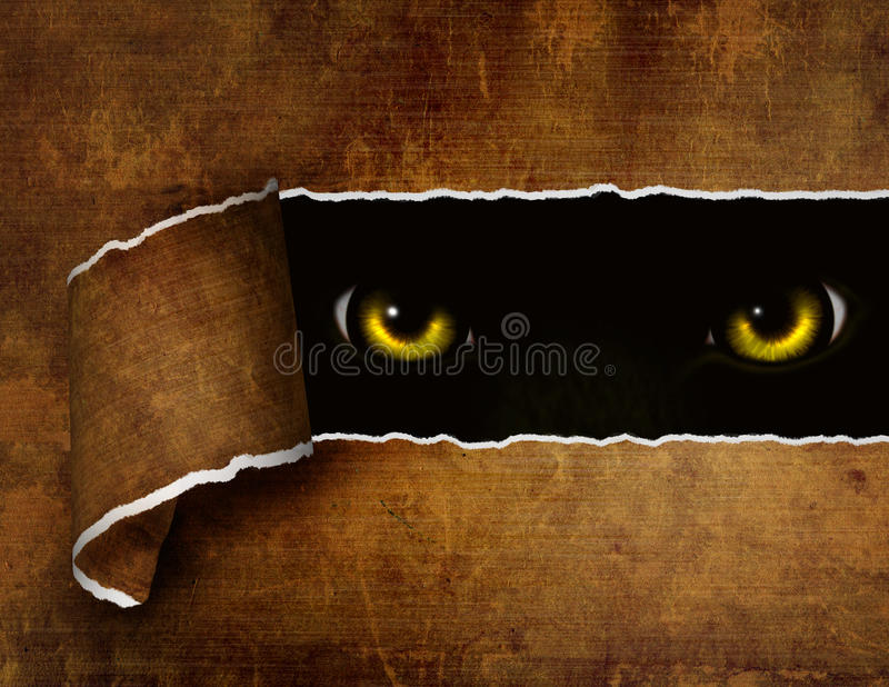 Download Look stock illustration. Image of animal, hole, dark - 14708814